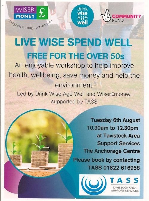 Livewise Spendwell – Free health and financial wellbeing workshop 6th August in Tavistock